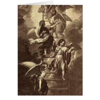 Angels On A Celestial Ladder Greeting Card