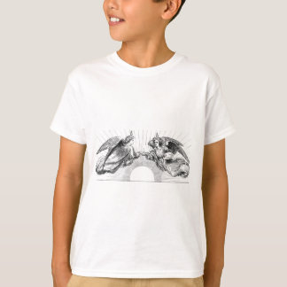 Angels over depiction of sun. T-Shirt