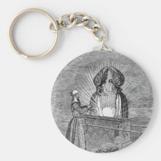 Angels over the Ark of the Covenant Keychain