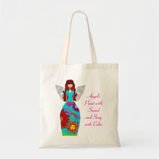Angels Paint with Sound and Sing with Color Tote Bag