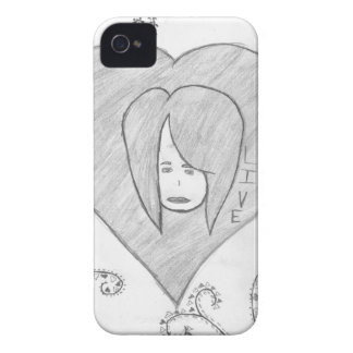 Angels Peace Love Live Drawing iPhone 4 Case-Mate Cases