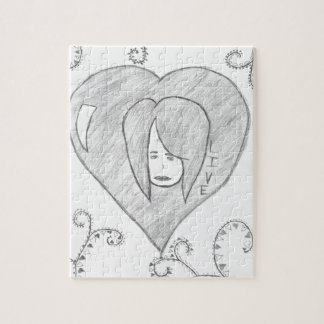 Angels Peace Love Live Drawing Jigsaw Puzzle