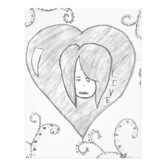 Angels Peace Love Live Drawing Letterhead