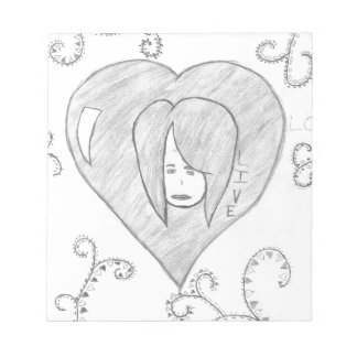 Angels Peace Love Live Drawing Notepad