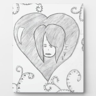 Angels Peace Love Live Drawing Plaque