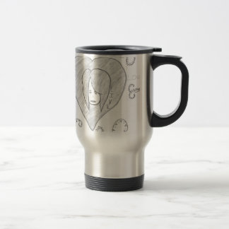 Angels Peace Love Live Drawing Travel Mug