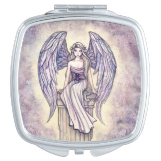 Angel's Perch Angel Fantasy Art Makeup Mirror