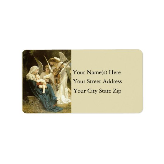 Angels Serenade Mary Vintage Address Label