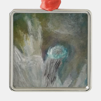 Angels Silver-Colored Square Ornament