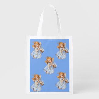 Angels Small Reusable Shopping Bag