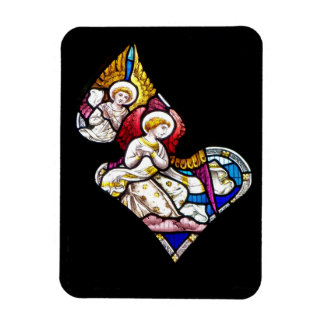 ANGELS STAINED GLASS WINDOW MAGNET