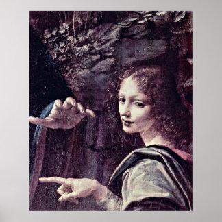 Angels 'Uriel' by Leonardo di ser Piero da Vinci Print