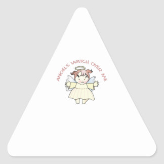 ANGELS WATCH OVER ME TRIANGLE STICKER