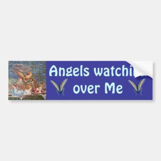 Angels watching over Me bumper sticker