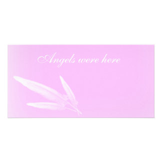 Angels were here custom photo card