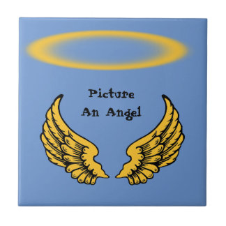 Angels Wings and Halos Customize Tile