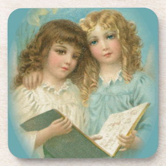 Angels With Book Drink Coasters