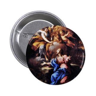 Angels with Jesus in Garden 2 Inch Round Button