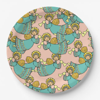 Angels with Trumpets 9 Inch Paper Plate