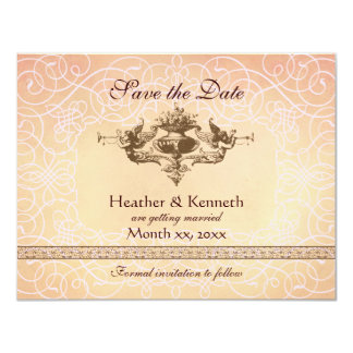Angels with Trumpets, Save the Date Card