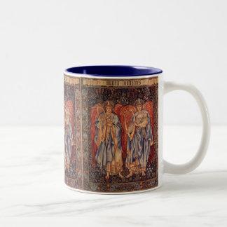 Angélus Laudantes, anges vintages par Burne Jones Mug Bicolore