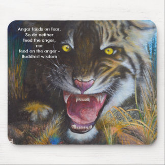 Anger feeds on fear - mouse pad