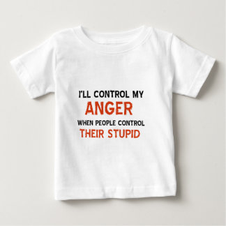 Anger management designs baby T-Shirt
