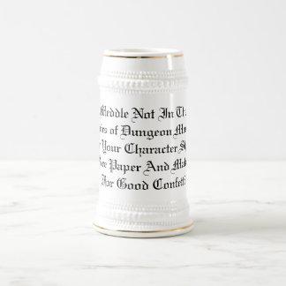 Anger Not The DM 18 Oz Beer Stein