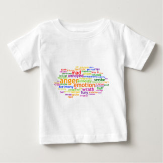 Anger Wordle Baby T-Shirt