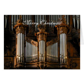 Angers Cathedral organ Card