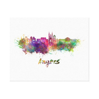 Angers skyline in watercolor canvas print
