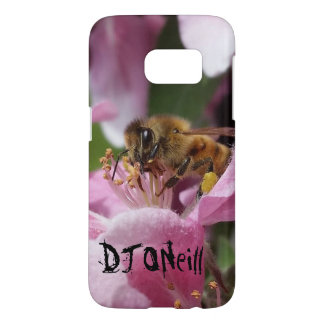 Angery Honey Bee On Pink Crabapple blossom Samsung Galaxy S7 Case