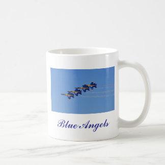 Anges bleus mug blanc