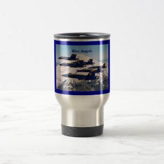 Anges bleus mug de voyage en acier inoxydable