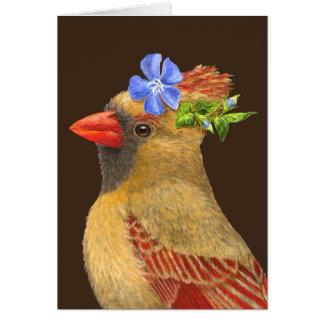 Angie the cardinal greeting card