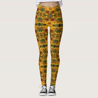 Angie's Gold Heliopsis Sunflowers Leggings