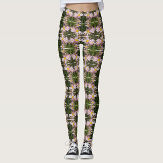 Angie's Happy Pink Perennial Mums! Leggings