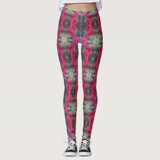 Angie's Pretty Pink Dianthus Leggings