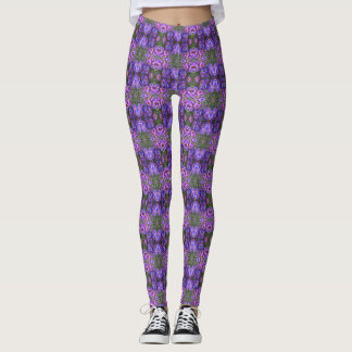 Angie's Purple New England Asters 2 Leggings