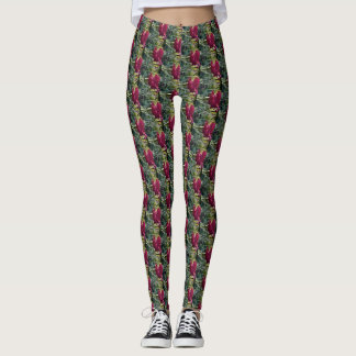 Angie's Red Dianthus 2 Leggings