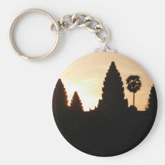angkor basic round button keychain