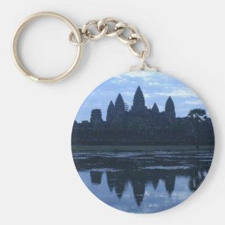 angkor blue basic round button keychain