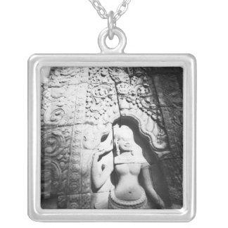 Angkor Cambodia, Apsara Carving The Bayon Silver Plated Necklace