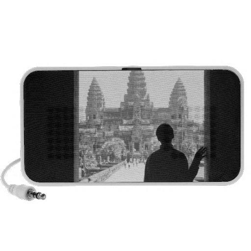 Angkor Cambodia, Doorway & Person Angkor Wat Portable Speaker