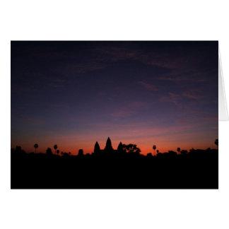 Angkor Wat at Sunrise (card) Card