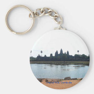 Angkor Wat, Cambodia Basic Round Button Keychain
