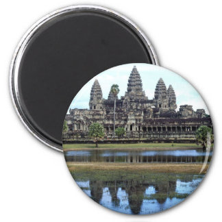 Angkor Wat Cambodia Temple Travel Photography 2 Inch Round Magnet