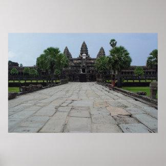 Angkor Wat in Siem Reap, Cambodia Poster