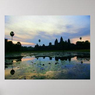 Angkor Wat Morning, Cambodia Poster