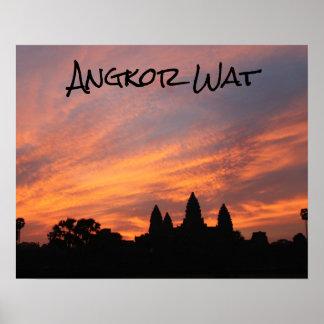 Angkor Wat Sunrise, Siem Reap, Cambodia Poster